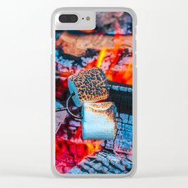 Roasting Marshmallows by the Campfire Clear iPhone Case