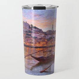 Porto at dusk Travel Mug