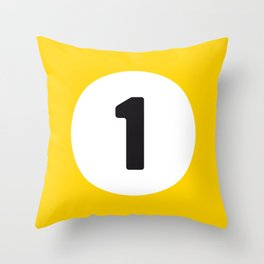 Ball 1 Billiard Throw Pillow