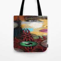trippy Tote Bags featuring Trippy by Müge Başak