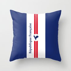 France, French Flag Vintage Art Print Poster Decoration Throw Pillow