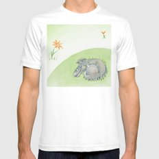 Tobias the dog. Mens Fitted Tee White SMALL