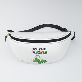 To The Rave (Unicorn Riding Triceratops) Fanny Pack