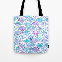 Mystical MERMAID DAYDREAMS Watercolor Scales Tote Bag