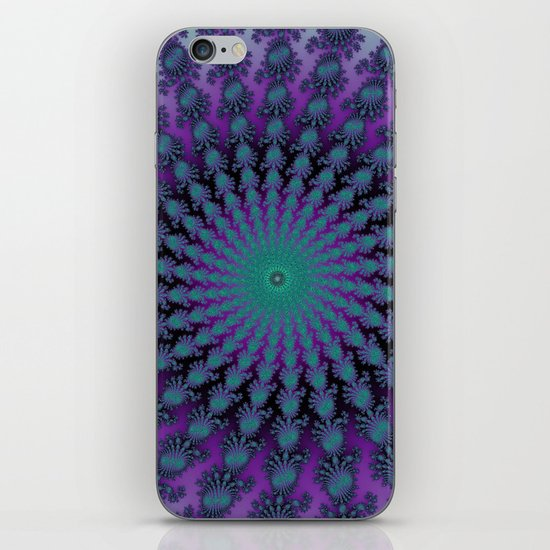 Cool Hued Purple Blue Braided Rug Fractal iPhone & iPod Skin