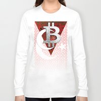 turkey Long Sleeve T-shirts featuring bitcoin turkey by seb mcnulty