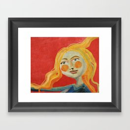 Yellow hair Framed Art Print