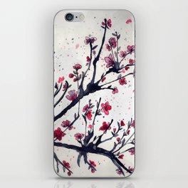 Sakura Sakura watercolour iPhone Skin