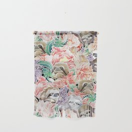 Because Sloths Watercolor Wall Hanging