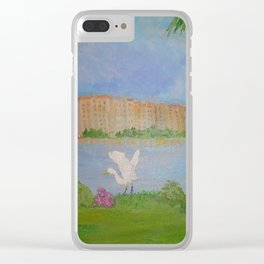 Habitat of Snowy Egret Clear iPhone Case