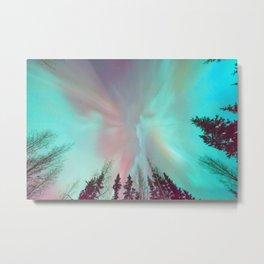 Deep Pastel Aurora Borealis Metal Print