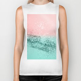 Summer Vibes Glitter #4 #coral #mint #shiny #decor #art #society6 Biker Tank
