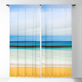Australian Beach Scene Blackout Curtain