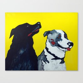 STINKY AND ZEKE by Jean-Paul Langlois Canvas Print