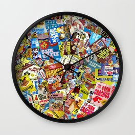 Cereal Boxes Collage Wall Clock