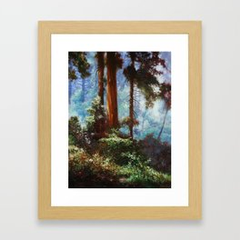 The Forrest Through the Trees Framed Art Print