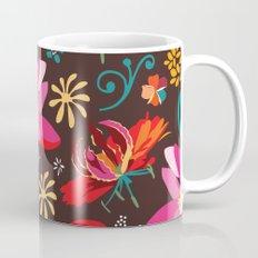 Tropical flower pattern Mug