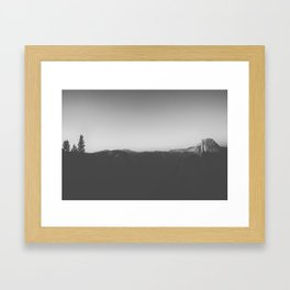 Night at the Half Dome Framed Art Print