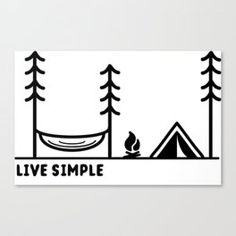 Live Simple Canvas Print