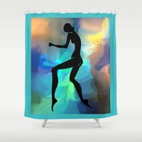 sound Shower Curtains featuring sound by tatiana-teni