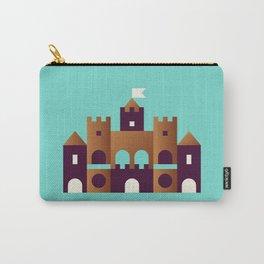 Sand Castle // Geometric Minimalist Illustration Carry-All Pouch