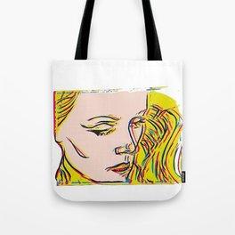 Blonde bombshell VII Pop art Tote Bag