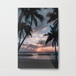 Sunset at Ko Olina Metal Print