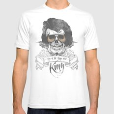 Elvis Presley | The King of the Living Dead MEDIUM White Mens Fitted Tee
