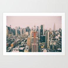 New York architecture 4 Art Print