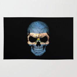 Dark Skull with Flag of El Salvador Rug