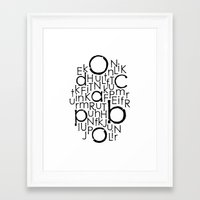 typo Framed Art Prints featuring typo by Catherine_S