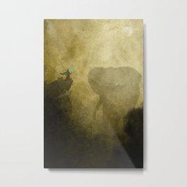 Elephant Caller Metal Print