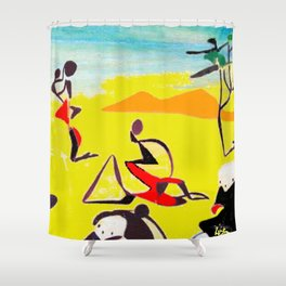 Lipton in East Africa          by Kay Lipton Shower Curtain