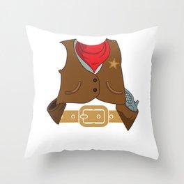 Cute Cowboy Costume Rodeo Horseback Riding Throw Pillow