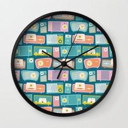 Retro Radios Wall Clock
