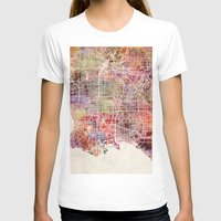 los angeles T-shirts featuring Los angeles by MapMapMaps.Watercolors