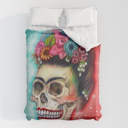Frida's Skull ~Variation Duvet Cover
