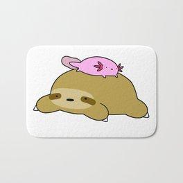 Axolotl and Sloth Bath Mat