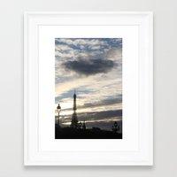 eiffel tower Framed Art Prints featuring Eiffel Tower by Ellen Wappett