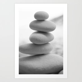 Zen beach rocks print, balancing roks Beach decor art print Art Print
