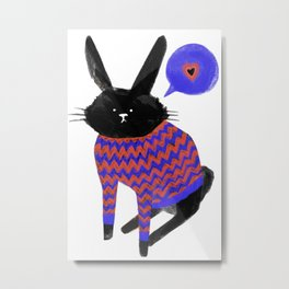 A Bunny With Feelings Metal Print