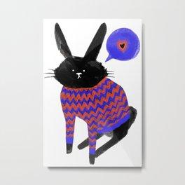 A Bunny With Feelings Metal Print