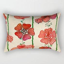 Hanging Poppy Garland Rectangular Pillow