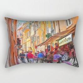 Narrow busy street in Monaco, Monte Carlo Rectangular Pillow