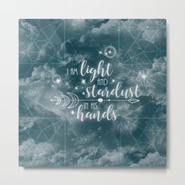 Light and Stardust Metal Print