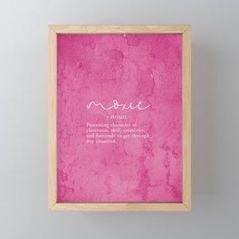 Moxie Definition - Pink Texture Wall Framed Mini Art Print