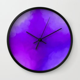Dreamy Lavender Indigo Clouds Abstract Wall Clock