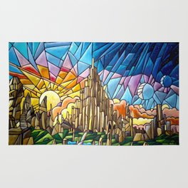 Asgard stained glass style Rug
