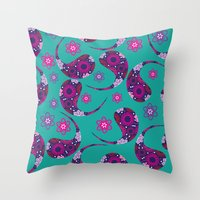 paisley Throw Pillows featuring Paisley by luizavictoryaPatterns