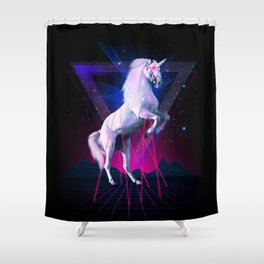 The last laser unicorn Shower Curtain